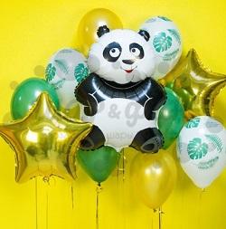 Букет из шаров Супер Панда