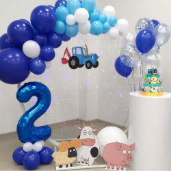 Фотозона Синий Трактор на 2 года