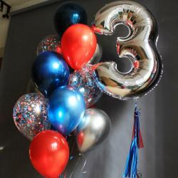 Сет из шаров с цифрой на День рождения мальчика