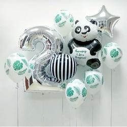 Букет с пандой на день рождения ребенка