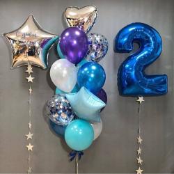 Набор шаров для мальчика на 2 года