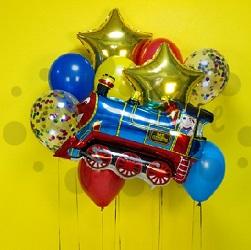 Детский букет из шаров Паровоз счастья